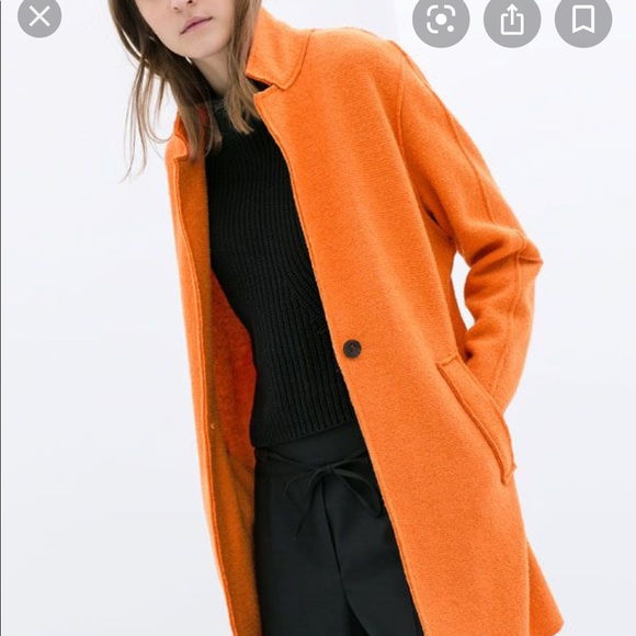 ZARA orange wool jacket